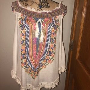 World Market Boho Sleeveless Top-Never Worn
